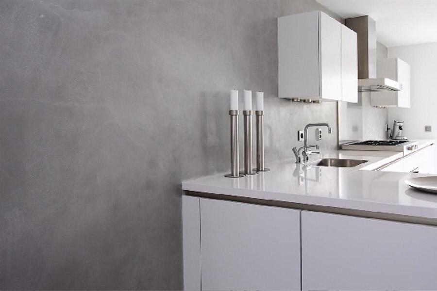 Glasplaat Keuken Foto : Keuken Beton Cire : beton cire wand keuken betonvloeren betonlook woon