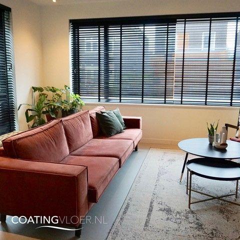 moderne betonlook vloer woonkamer
