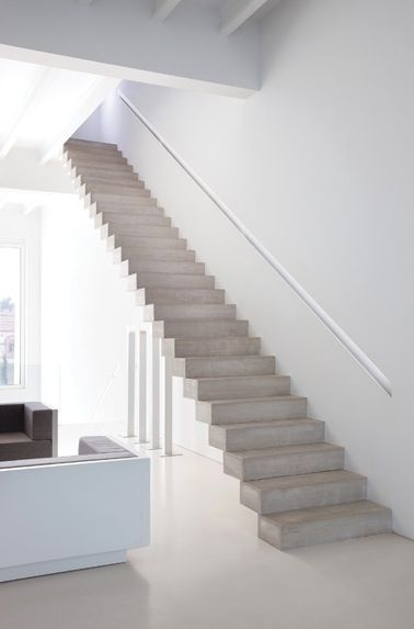 moderne betonnen trap